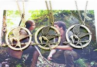 american prop - The Hunger Games Necklaces Inspired Mockingjay And Arrow Pendant Necklace Authentic Prop imitation Jewelry Katniss Movie The Hunger Games