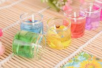 Wholesale 6pcs Creative Wedding Favor Gift Gel Wax jelly candle birthday party Valentine s Day Gift ideas home decoration A3A5