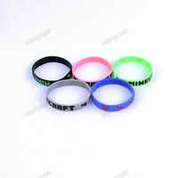 Wholesale Minecraft Creeper Wristband Silicone Rubber Bracelets Minecraft Cuff Fashion For Girls Boys Colors DHL Factory