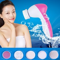 Wholesale High quality Multifunction Electric Face Facial brush Cleansing Spa Skin Care cleansing Facial massager with retail packaging