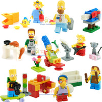 bart simpson gifts - The Simpsons Homer Simpson Marge Simpson Bart Simpson Lisa Simpson Mini Figure Building Blocks toy Gift