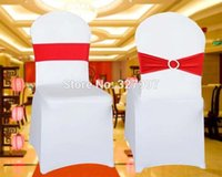 arrangement band - Spandex wedding chair sash back bow bands for chairs lycra band and buckle sashes party banquet supply decor arrangement