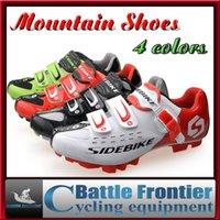 bicycle racing shoes - New Outdoor SIDEBIKE MTB Racing Shoes Men s Breathable Cycling Bicycle Athletic Bike Shoes Sneaker Mountain Cycle Shoes US7 Colors