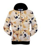 animations tiger print - w151231 men women harajuku print animal dog tiger d drake hoodies funny Animation sweatshirt sudaderas element men s jacket