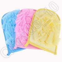 Wholesale 1000PCS HHA563 Bath gloves exfoliating gloves shower Rubbing Towel bath flower rub gloves Bathroom accessories bath gloves Bathing