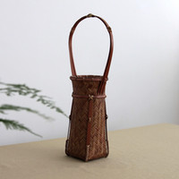 bamboo interior decoration - Unique bamboo flower vase for home decoration handmade Weave Crafts vase interior wedding decoration gift