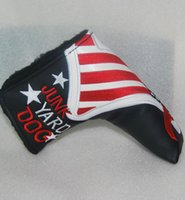 Wholesale New JUNK YARD DOG Golf HeadCover Top Quality PU Golf Putter Cover with Black color
