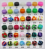 Wholesale colors Non stick Silicone Jar Dab Containers For Wax Jars Concentrate Case mL mm Pass FDA LFGB Test by DHL