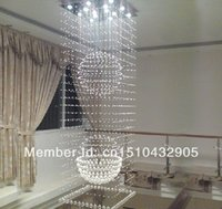 Cheap wholesales 100% guaranteed square modern crystal chandelier stairs L600*W600*h1500MM crystal lamp home light free shipping