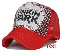 Wholesale LINKIN PARK letters truck cap Korean Mesh hat Fashionable hats Snapbacks caps hat circumference cm color