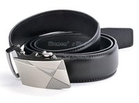 Wholesale Leather Belt For Man Automatic Buckle Belt Men Waist Strap Belts Black SV006596