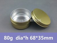 aluminum container foil - EMS Shipping Factory Direct g Gold Aluminum Jar Round Metal Cream Can ml Golden Tin Container Cosmetic Packaging