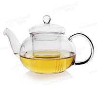 Wholesale Drop Shipping Practical Resistant Bottle Cup Glass Teapot with Infuser Tea Leaf Herbal Coffee ML