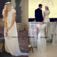 Cheap 2015 Boho Wedding Dresses Best 2015 Lace Chiffon Wedding Dresses