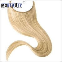 Wholesale Easy wear Flip in Human Hair extension inch piece brazilian human hair halo hair extension b Mix color