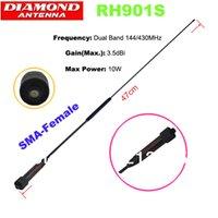 achat en gros de quansheng tg uv2 antenne-Gros-DIAMOND RH901S SMA-Femme 144 / 430MHz Dual Band Antenna 3.5dBi pour Baofeng UV-5R, UV-B5, B6-UV, Quansheng TG-UV2