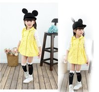 basic edition clothing - Children s clothes of new fund of autumn winters Han edition spot basic princess dress dresses of the girls BH1395