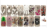Wholesale Transparent Henna White Paisley Flower Mandala Owl Soft Lovers Eiffel TPU Case For Iphone S S Plus Dreamcatcher Butterfly Skin