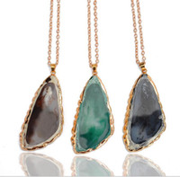 jade necklace - Multi color Kendra Scott Womens Necklace Gold Crystal Natural Stone Pendant Clavicle Necklaces For Women Jade Jewelry