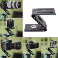 aluminum slide rail - Aluminum Alloy Camera Folding Z Desktop Stand Holder Tripod Flex Pan Tilt Ball Head Compatible Slide Rail Camcorder Tripod D2440