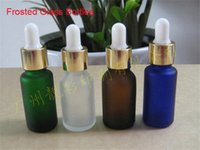 essential oil glass bottle - 100ml Glass Essential Oil Bottle with Tamper Evident Dropper Frosted Dull Polish Bottles for essential Oil Colored Amber Green Blue Clear