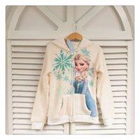 sweatshirts - Winter Children Girls Hoodies Kids Clothing Froze Warmth Long Sleeve Elsa Anna Zipper Sweatshirts Childs Zipper Tops H1791