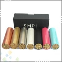 black cap - SMPL Mechanical Mod with thread fit for battery with No top cap simple design SMPL Mod Copper Black SS Brass DHL Free