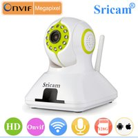 Wholesale Sricam Onvif WiFi IP Camera SP005 HD P Indoor Dome Infrared Night Vision Security Camera Support GB TF card