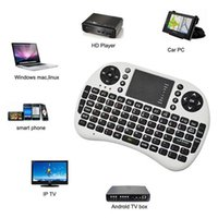 Wholesale Rii I8 Fly Air Mouse Mini Wireless Handheld Keyboard GHz Touchpad Remote Control For MX III CS918 MXQ M8 MXIII M8S TV BOX Mini PC