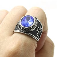 Wholesale Cool Mens Biker Ring L Stainless Steel Finger Ring Punk Jewelry