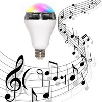 Wholesale New Smart Music Audio Speaker Wireless Control Speaker LED RGB Color Bulb Light Lamps E27 D5528B