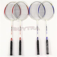 Wholesale 2014 Top Quality high strength Badminton Racket with Carry Bag Durable Pair Speed Light weight Aluminium Alloy Racquet