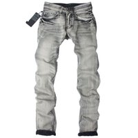 Wholesale 2016Wholesale Italy Designer Classical Fashion Jeans Men Famous Brand Men Jeans High Quality Dark Gray Printed Jeans For Men