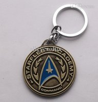 academy ring - Famous Movie Key Chain StarTrek Starfleet academy Key Ring Fashion Jewelry For Men