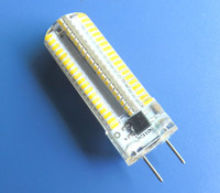 Wholesale G8 Led Dimmable bulb W SMD V Silicone Crystal White Warm