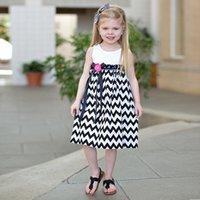 chevron maxi dress - Hot sale summer girls dress chevron maxi dresses cotton chevron Halter dress for summer girl Age kids Beach dress