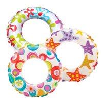 Wholesale Popular floating ring Inflatable PVC Children floating Swim Ring fashion float swiming ring