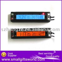 Wholesale pc Brand New EC30 Car digital thermometer with voltage measuring with digital clock