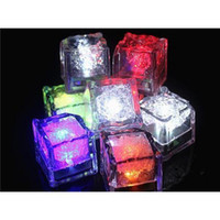 Wholesale 2015 hot Party Festival Decorations Flash Ice Cube WaterActived Flash Led Light Put Into Water Drink Flash Automatically for Wedding Bars