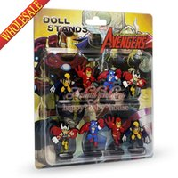 Wholesale Hot Movie Marvel s The Avengers Catoon Figure Dolls Spring Toys Stand up dolls Furnishing articles dolls Shaking Head Dolls