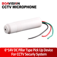 Wholesale Pillar high sensitivity Mini CCTV Microphone for Security Camera Audio Surveillance DVR CCTV Mic Audio Cable Audio Receiver