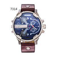 analog calendar - hot new men s luxury brand quartz watch fashion watch leather strap Japanese quartz calendar DZ Men s Watches
