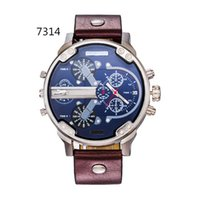 Wholesale hot new men s luxury brand quartz watch fashion watch leather strap Japanese quartz calendar DZ Men s Watches