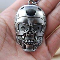 НОВЫЕ Горячие моды мультфильм ключевые цепочки игрушки кино высокого качества Terminator робот маска сплава брелок Игрушки лучшие подарки cc169