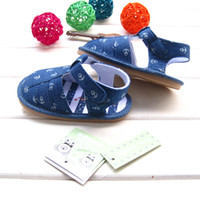bebe high heels - NEW ARRIVAL Summer baby boy s rubber soled sandals high quality flat heel outdoor bebe Denim baby shoes