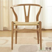 ash dining chairs - Creative American white oak and ash dining chair European the Y type solid wood chair Round backed armchair armchair color