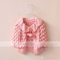 Wholesale 2015 Kids Girls Knit puff cardigan baby girl Batwing poncho babies Fall Winter outwear knit sweaters children s