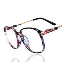 Wholesale Round Frames Retro Metal Legs Optical Plain Glasses Clear Lens Eyeglasses Fashion Galsses Frames For Men Women