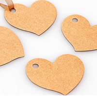 Wholesale Kraft Blank Heart Paper Tags perfect for gift tags party favour or craft project