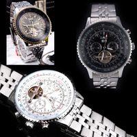 balance digital watch - Jaragar Automatic Self winding Mechanical Wrist Watch with Analog Display Stainless Strap Luxury Design Balance Wheel